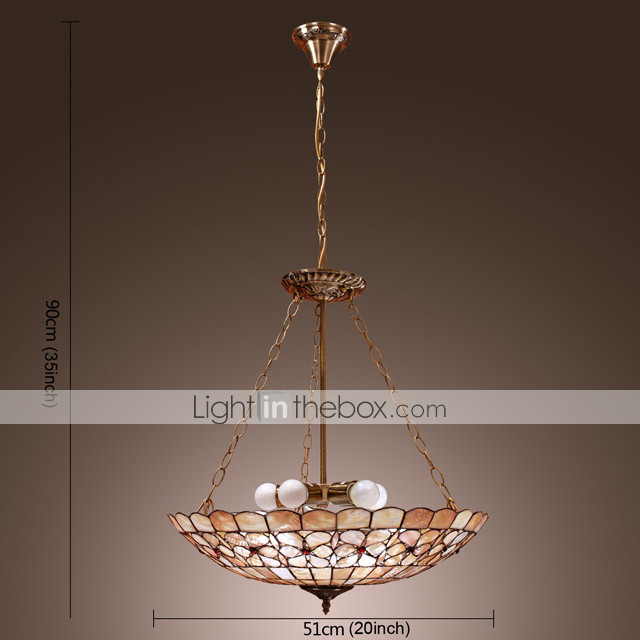 Tiffany Style Pendant Light With 3 Lights Floral Patterned 221452 2016 2