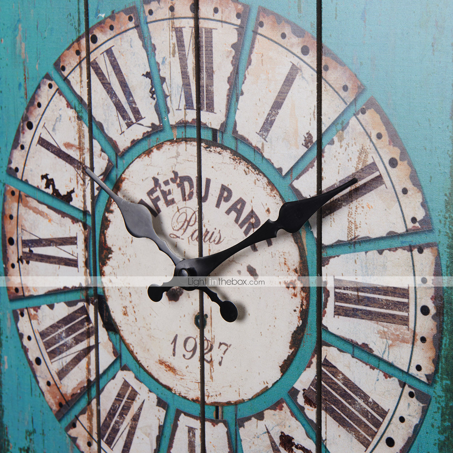 antique clock wall vintage wooden style country rectangular 15 quot large ebay