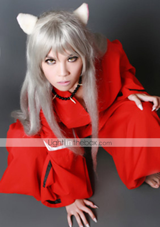 cosplay wigs inuyasha inu yasha white long    straight