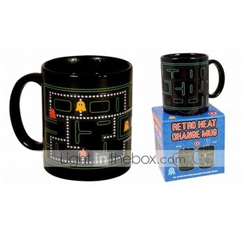 Retro 80s Video Game Mugs Pacman Heat Colour Change Coffee