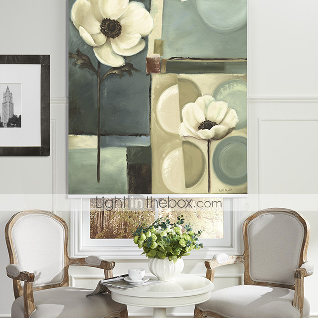 Oil Painting Style Still Life Floral Roller Shade 1963495