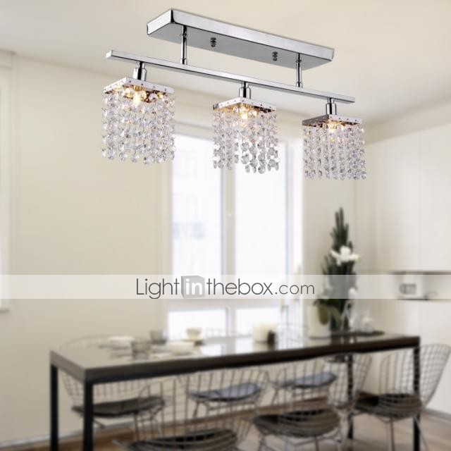 Linear Chandelier Island Light Crysal 3 Lights 159491 2017