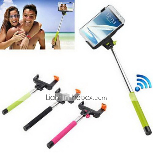wireless bluetooth monopod for android 3 0 and above system ios 4 0 and above system black pink. Black Bedroom Furniture Sets. Home Design Ideas