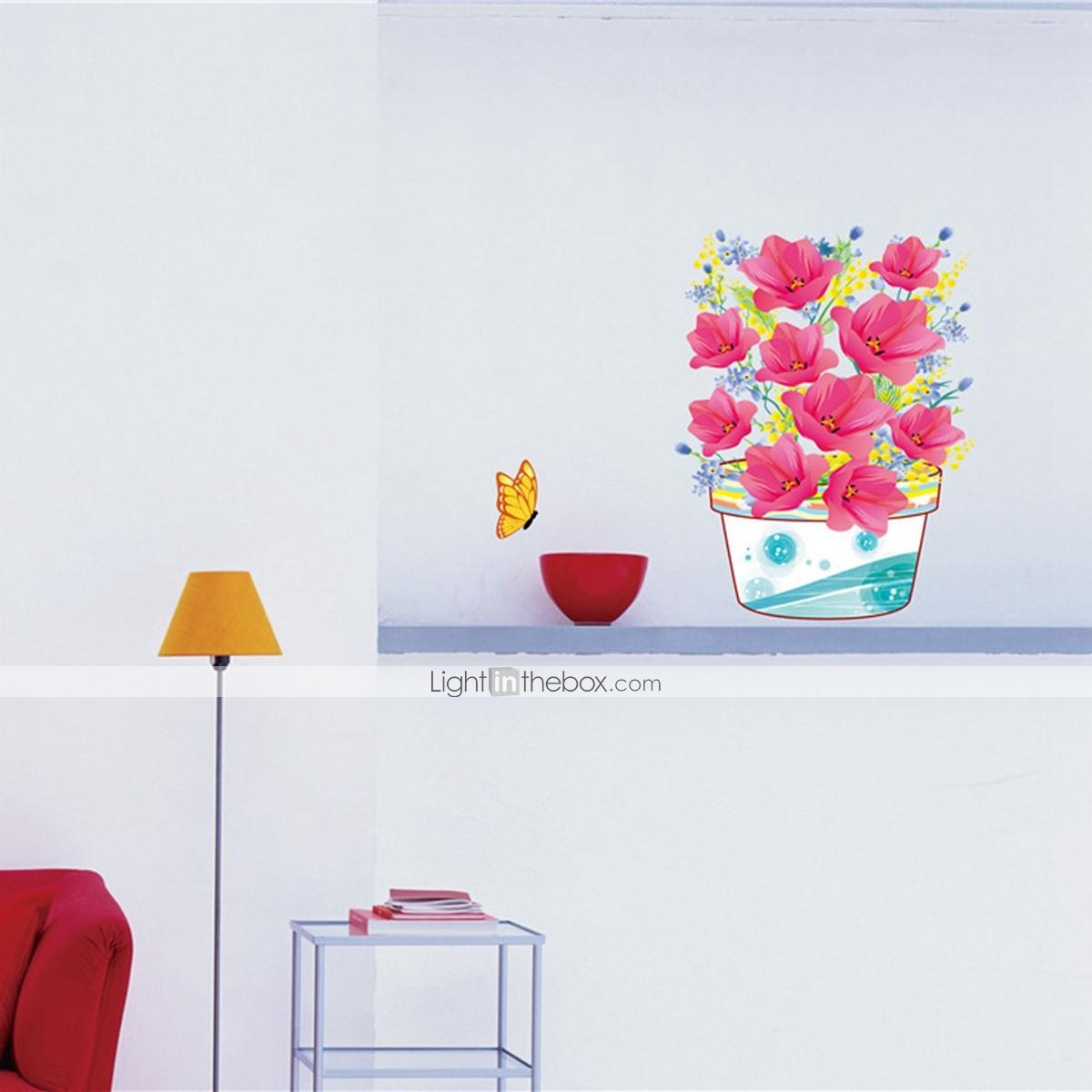 3D Wall Stickers Wall Decals Flower PVC Wall Stickers 2016 – $5 99