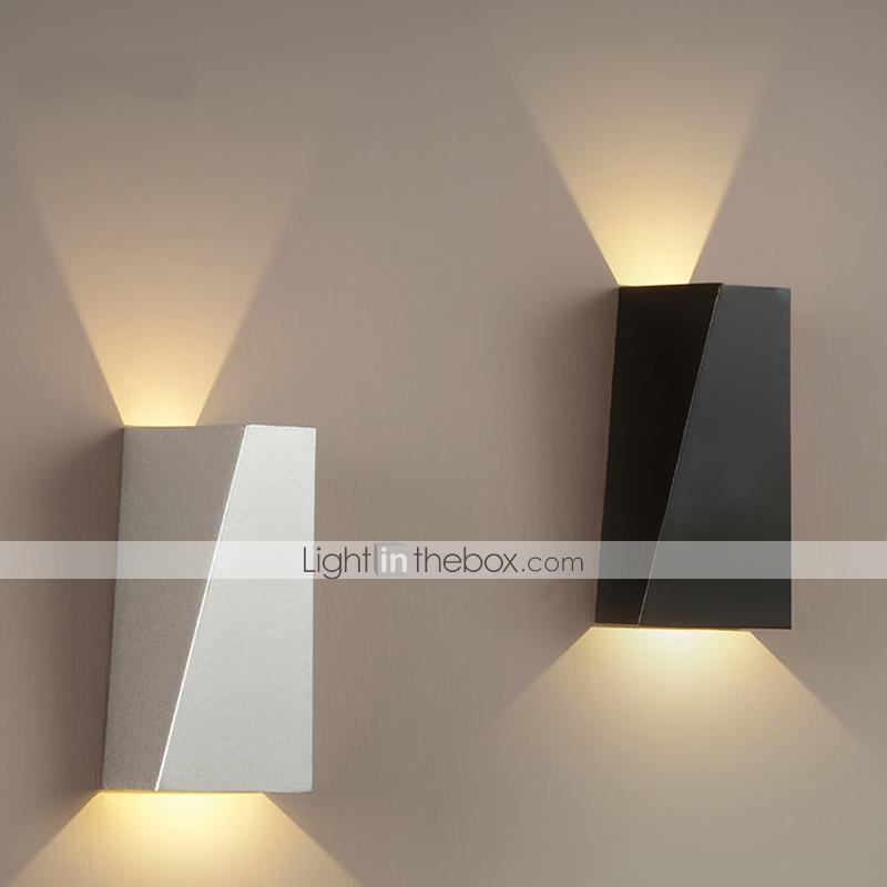 Wall Light Metal Box : Wall Sconces LED Modern 1 Light Contemporary White and Black Metal 2858280 2017 USD 82.81