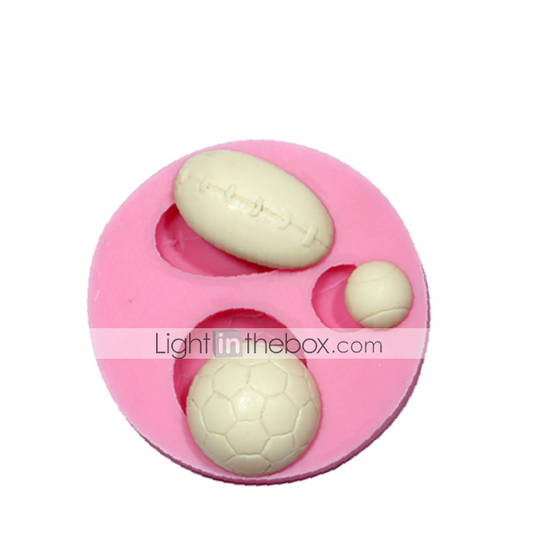 Cake Decorating Coloured Balls : Sports Balls 3D Fondant Silicone Decorating Mould ...