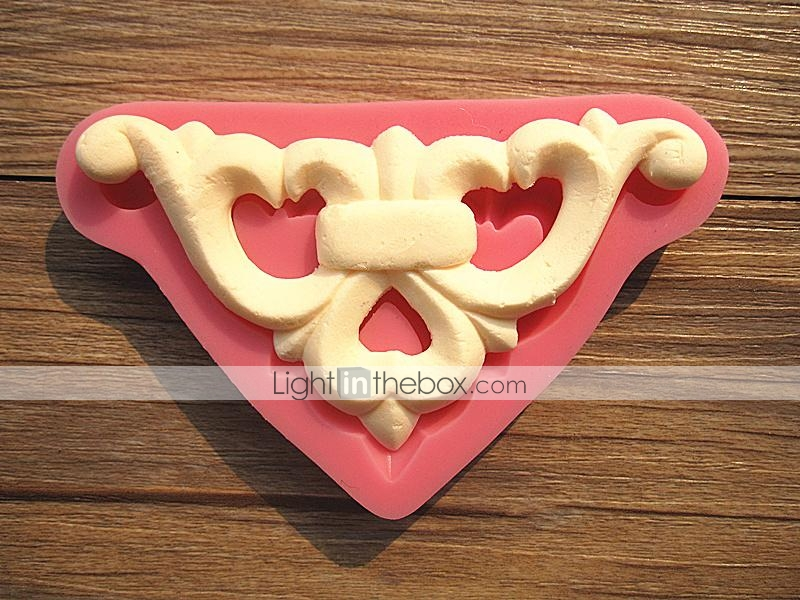 Love Shape Cake Decoration : Triangle European Relief Love Shape Lace Cake Border ...
