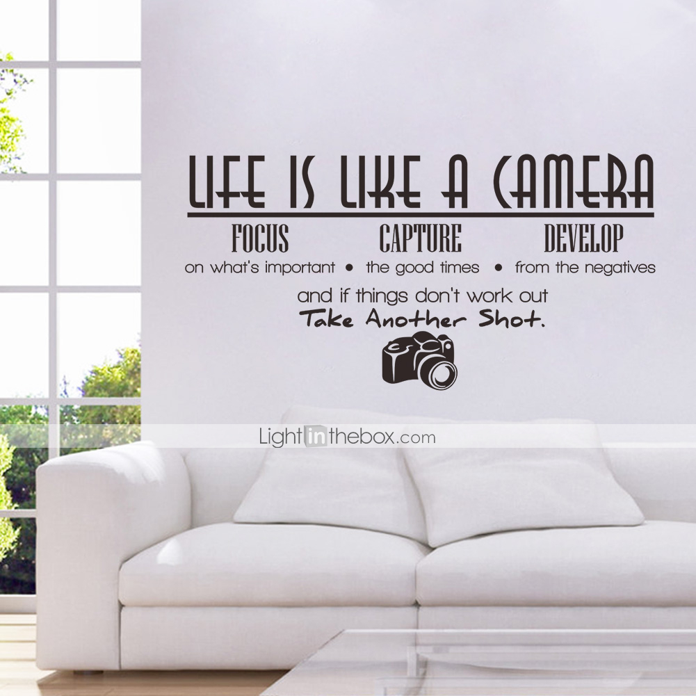 Decorative Wall Decal Quotes : Words quotes wall stickers plane
