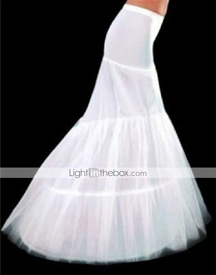 Slips mermaid and trumpet gown slip chapel train floor for Mermaid slip for wedding dress