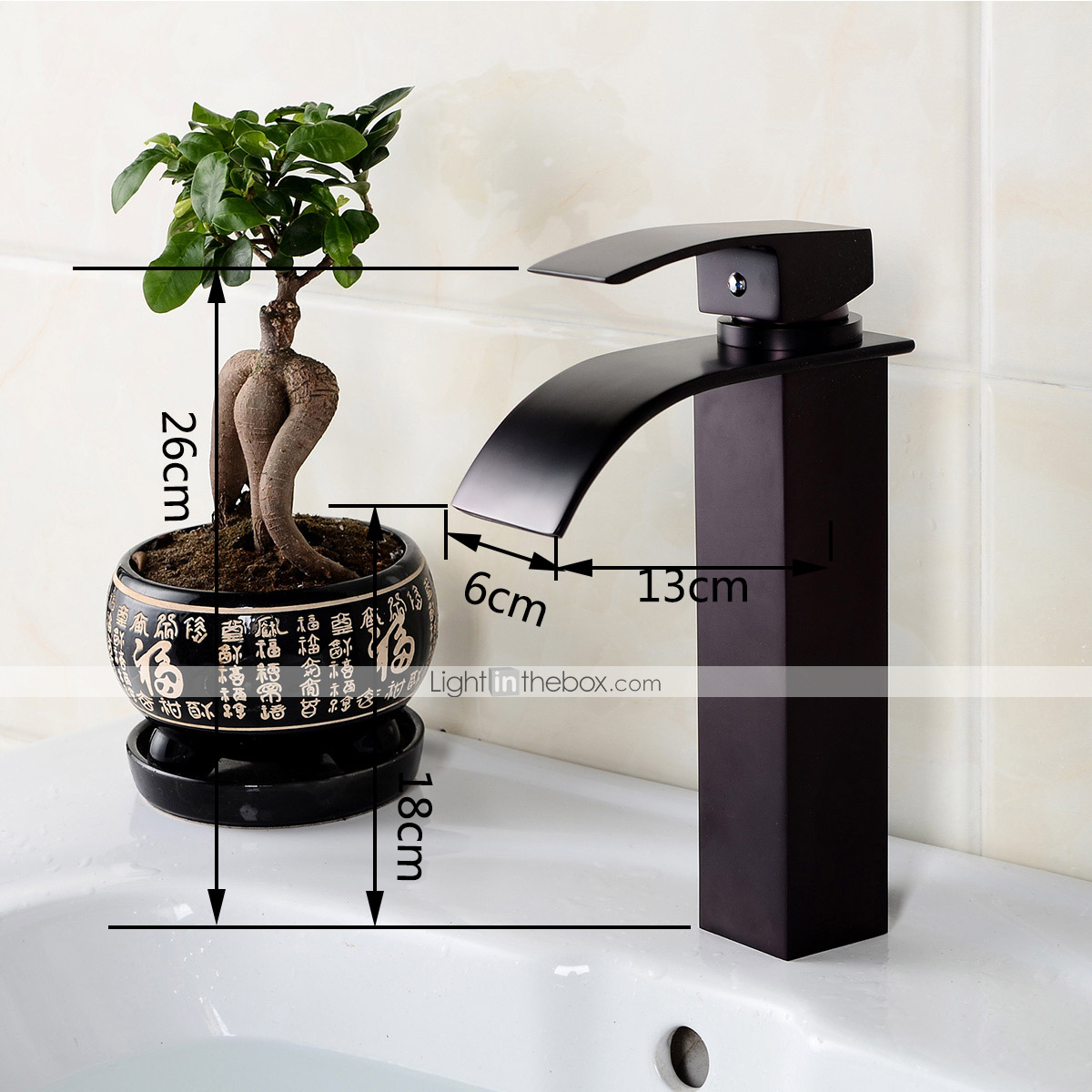 Contemporary Fashion Style Oil Rubbed Bronze Bathroom Sink Faucet Black