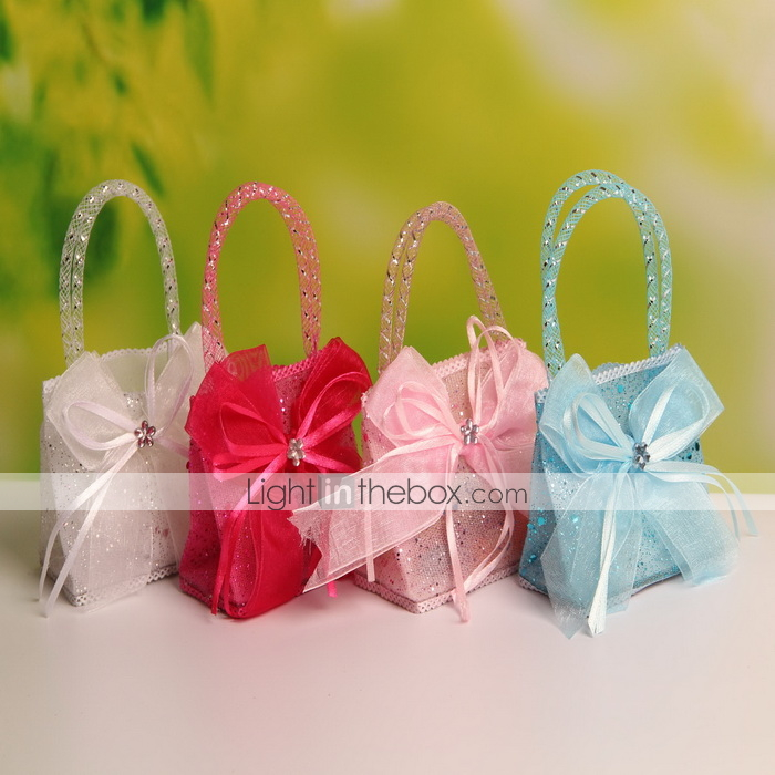 Wedding Favor Bags With Ribbon : !!! Wedding Candy Bags Portable Favor Bags Nonwoven Fabric Bag Ribbon ...