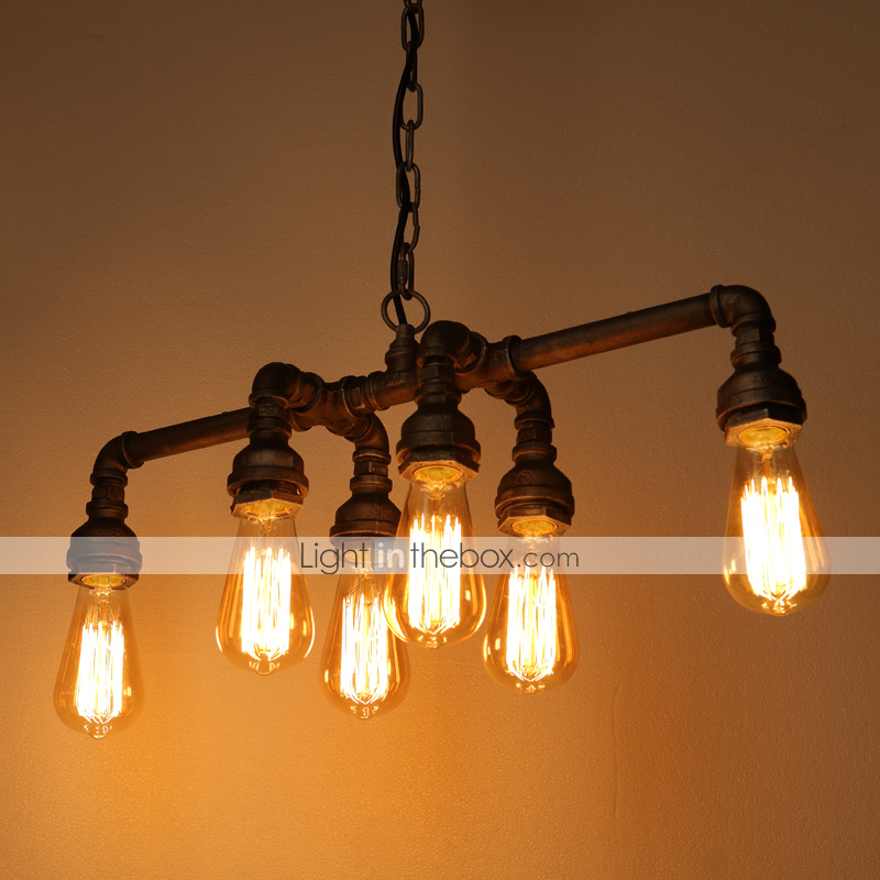 edison retro loft style vintage industrial pendant light lamp metal water pipe luminaire lampara. Black Bedroom Furniture Sets. Home Design Ideas
