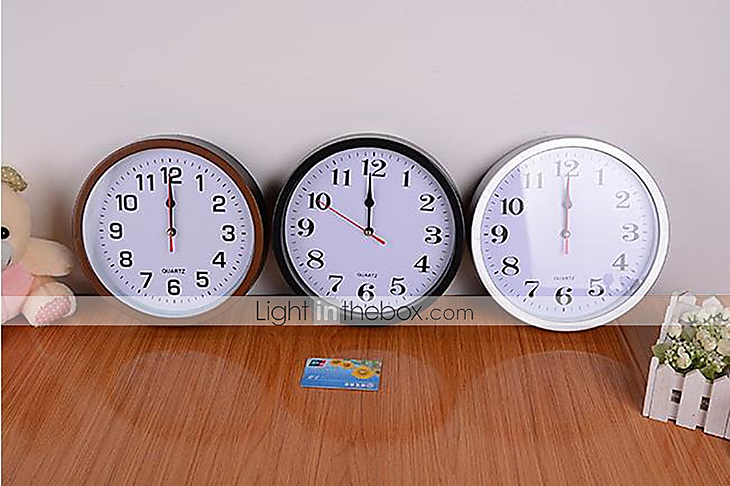 Reloj de pared pl stico moderno contempor neo casual - Reloj de pared moderno ...