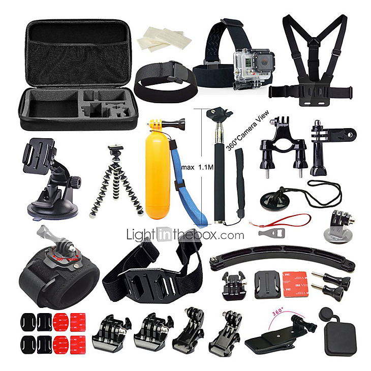 accessories for gopro protective case monopod tripod case. Black Bedroom Furniture Sets. Home Design Ideas