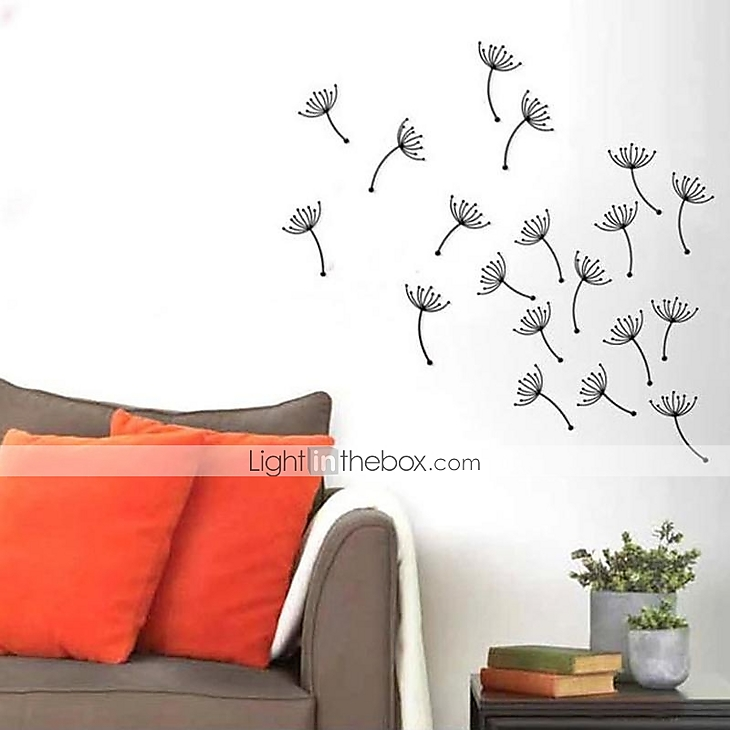 Dandelion Metal Wall Decor : E home? metal wall art decor the dandelion flying