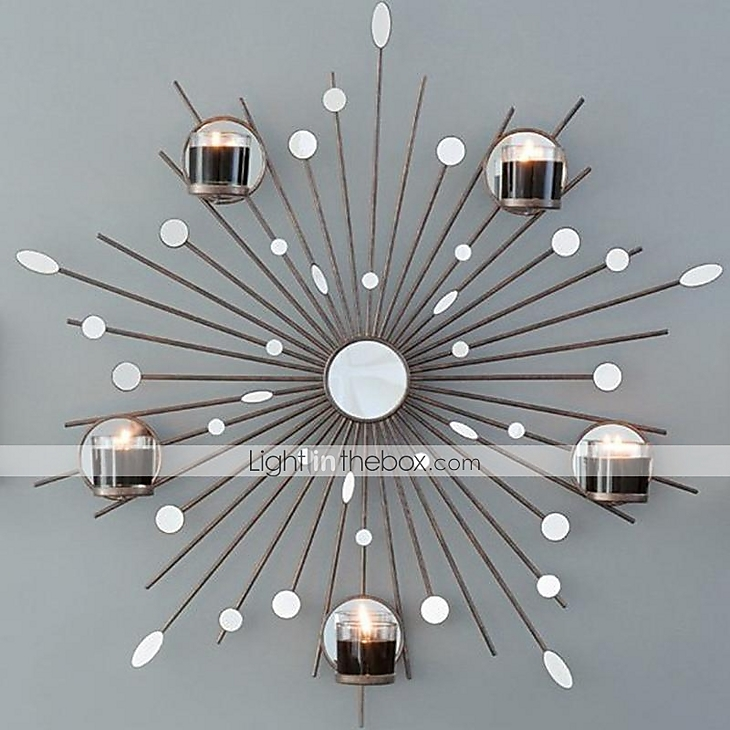 Metal Wall Art Wall Decor The Sun Mirror Candlestick Wall