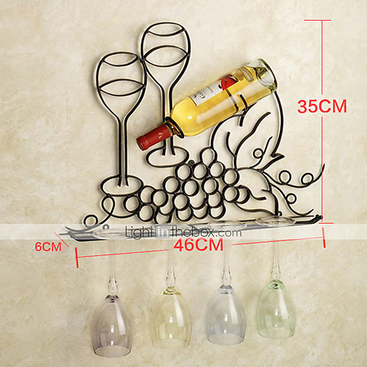 E Home Metal Wall Art Wall Decor Wine Rack Wall Decor