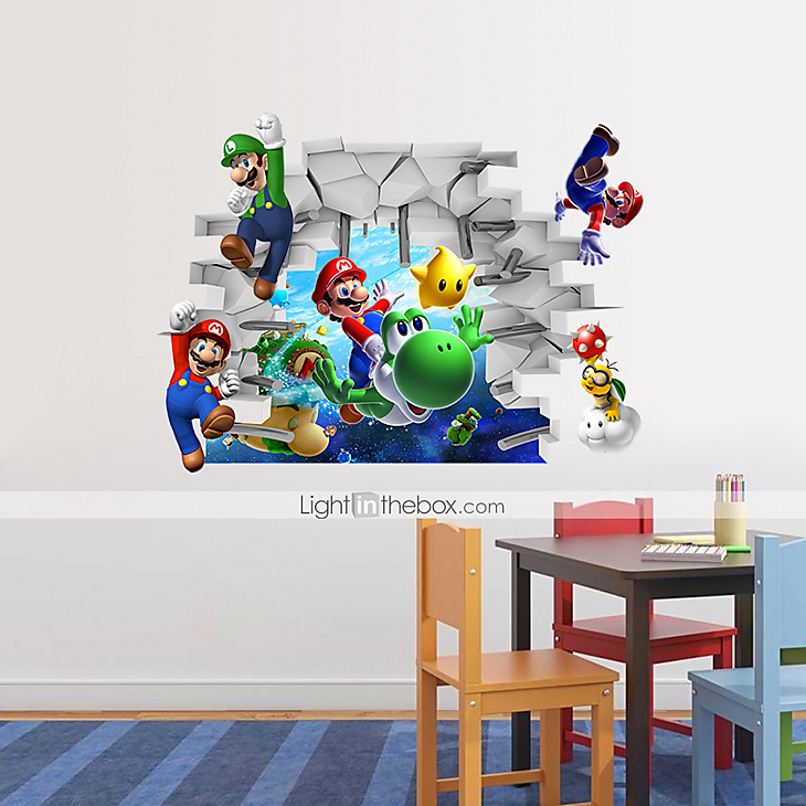 3d wall stickers wall decals super mario pvc wall tapeta 3d super mario naklejka do pokoju dziecka