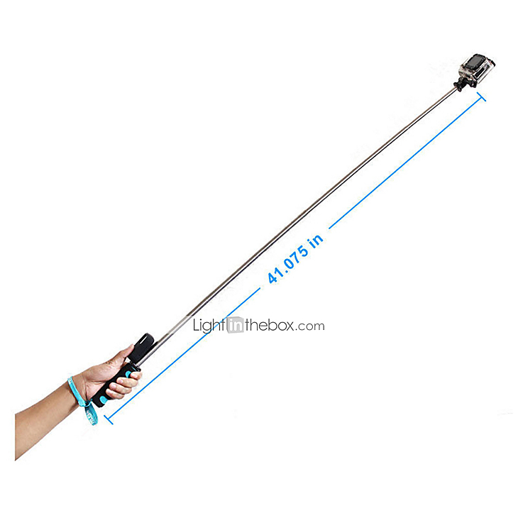 handheld remote pole selfie stick extendable telescopic monopod for gopro 2 3 4 camera 3033898. Black Bedroom Furniture Sets. Home Design Ideas