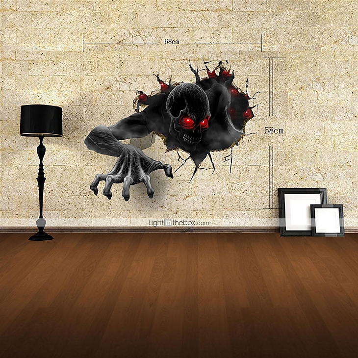 3d wall stickers wall decals the devil decor vinyl wall