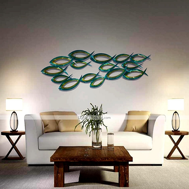 Bellabello metal wall art wall decor contemporary style for Tropical metal wall art