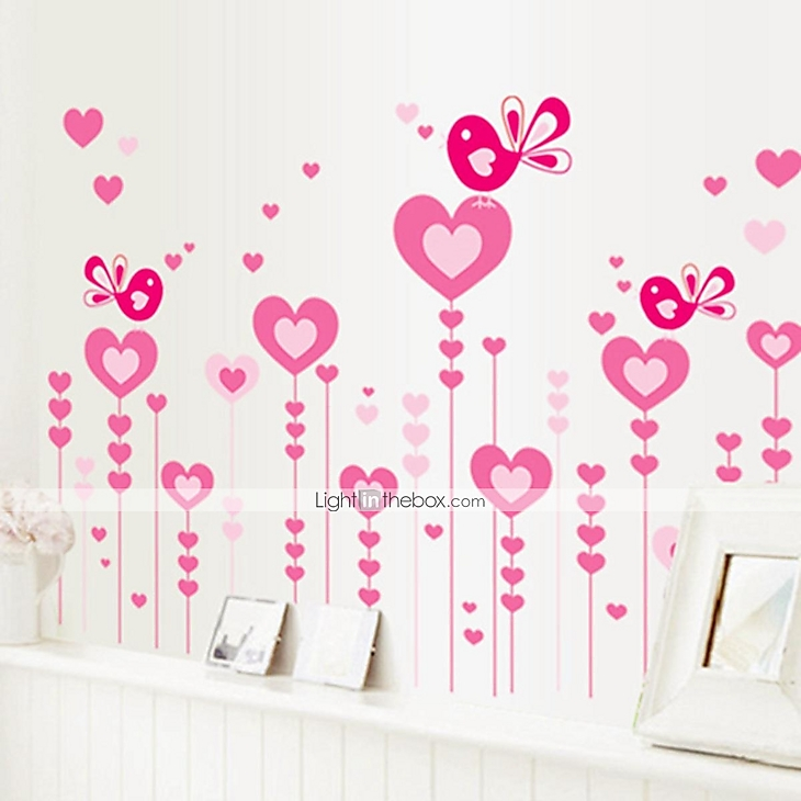Romance love style decorative wall stickers wall decals - Wall stickers camerette ...