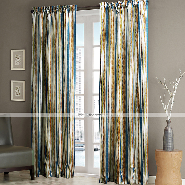 Minimalist Outdoor Contemporary Curtains Philips Young Two Panels Contemporary Multi Color Minimalist Striola Curt