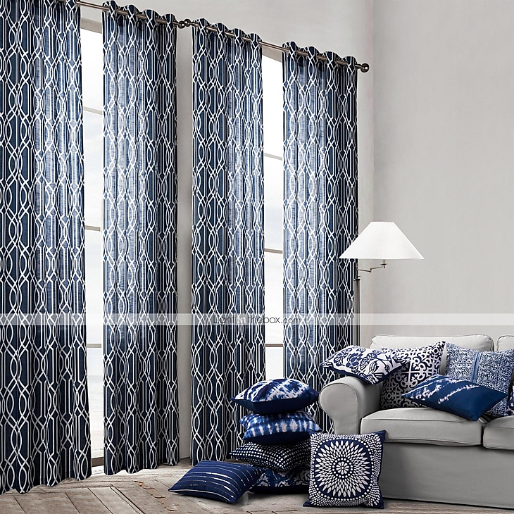 One panel curtain modern bedroom polyester material - Brown and turquoise curtains ...