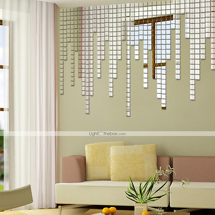 shapes wall stickers mirror wall stickers decorative wall mirror mirror on the wall sticker rectangular by