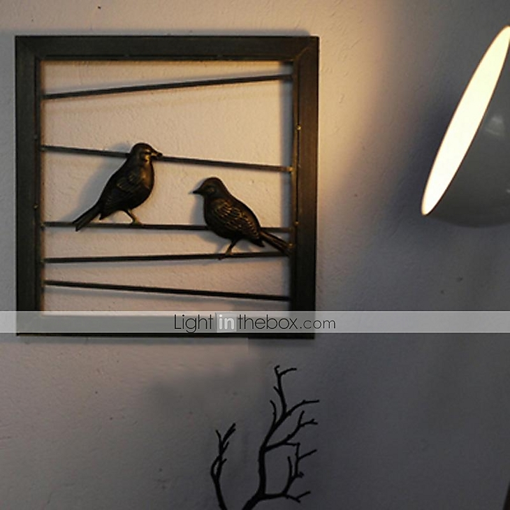 Metal Wall Decor With Birds : E home? metal wall art decor black birds