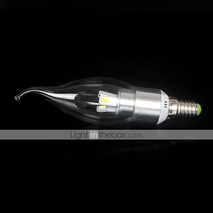 3w e14 ampoules bougies led ca35 3 smd 650 700 lm blanc - Bougie led action ...