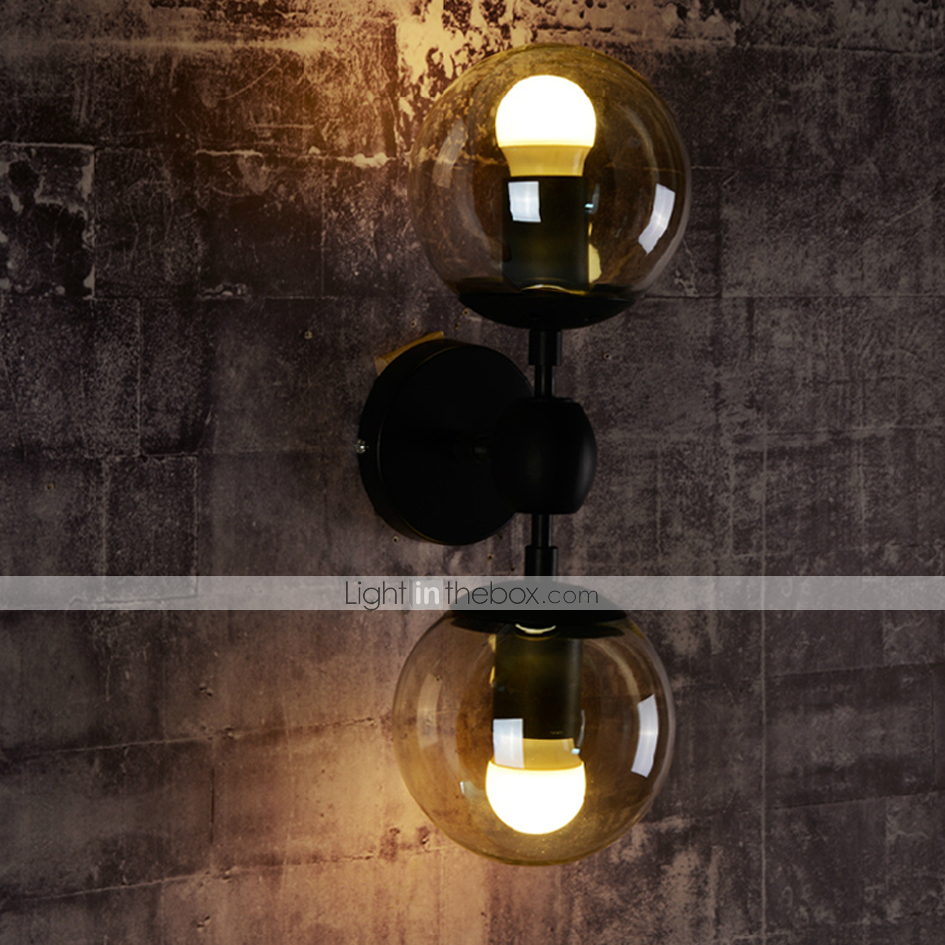 Ecolight Wall Sconces / Glass ball 2 Lights/Outdoor / Indoor Wall Lightsl Rustic/Lodge Metal ...