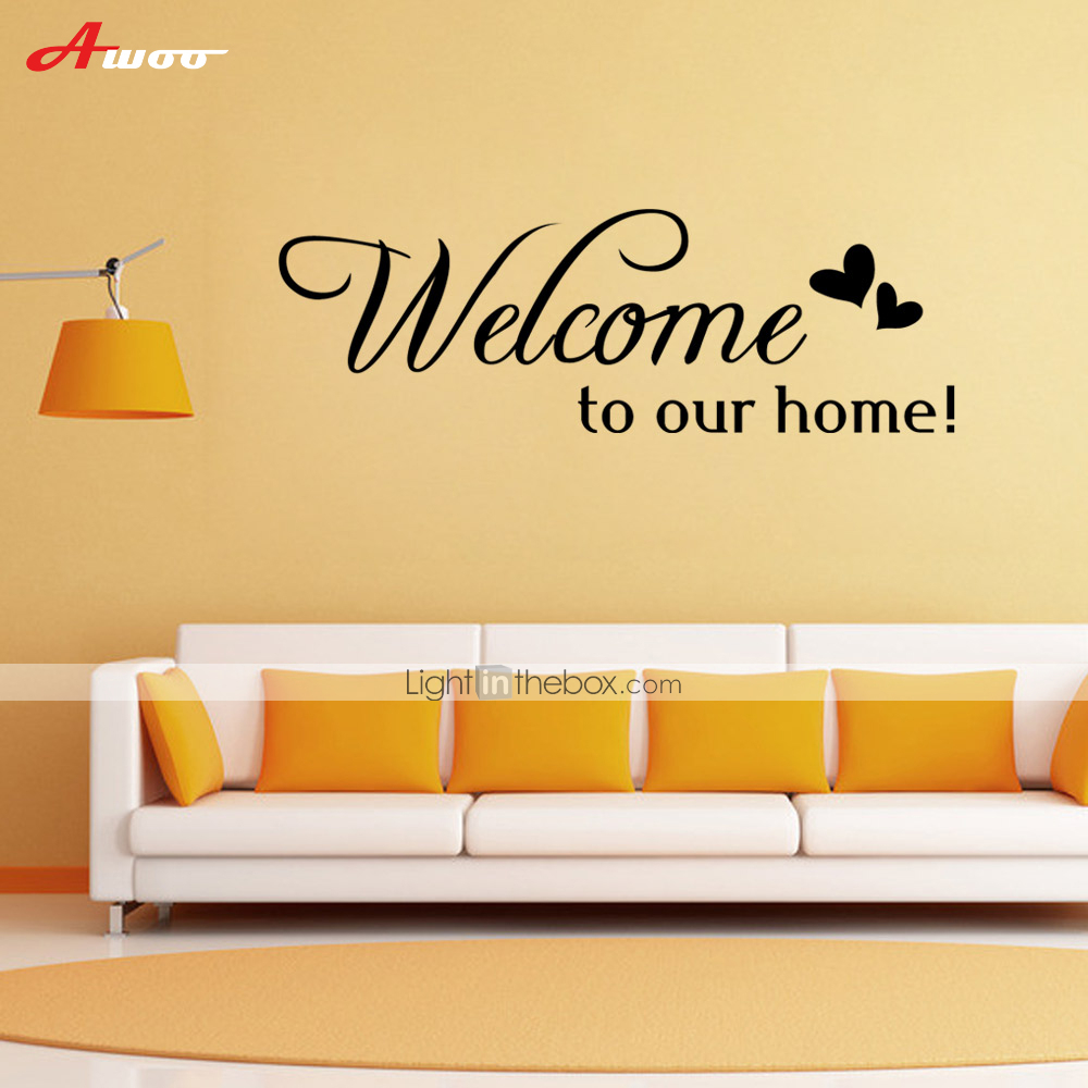 Awoo welcome home wall sticker diy home decorations for Diy welcome home decorations