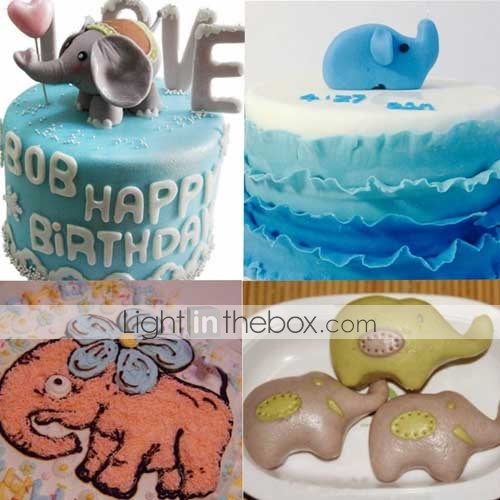 Elephant Cutter For Cake Decorating : Elephant Animal Cookie Cutter Stainless Steel Cake Baking ...