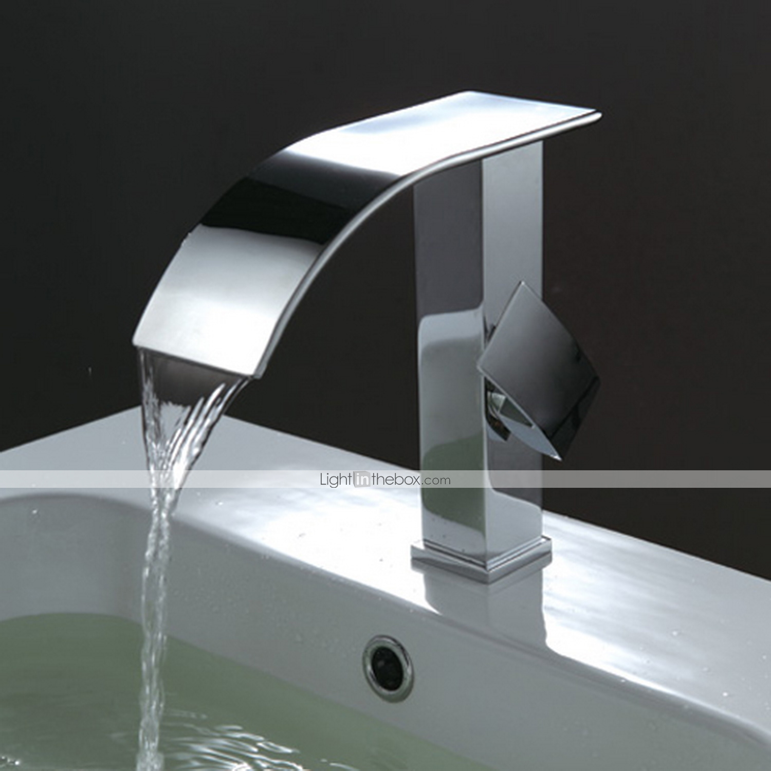 Bathroom sink faucet contemporary design waterfall faucet - Grifo lavabo cascada ...