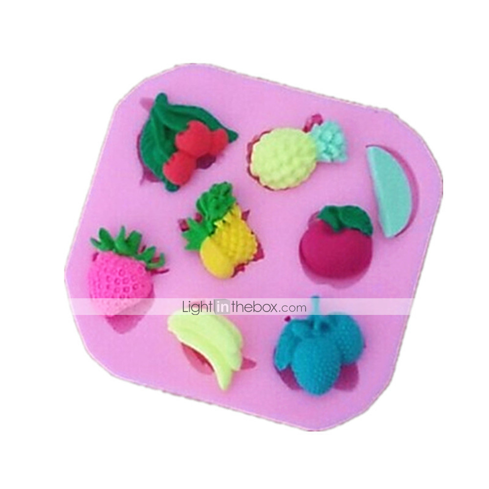 Fruit Shaped Cake Decoration : Fruits Apple Strawberry Shaped Fondant Cake Chocolate ...