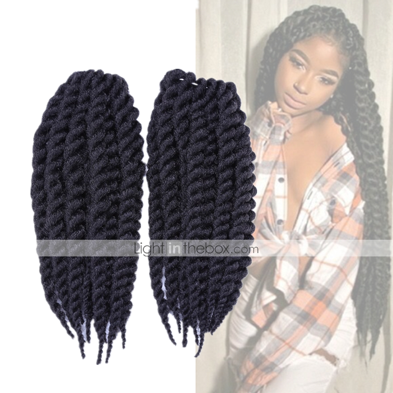Black Crochet / Havana / Senegal / Box Braids Twist Braids Hair ...