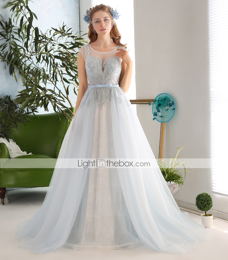 Ball gown wedding dress court train jewel lace tulle for Wedding dress beading patterns