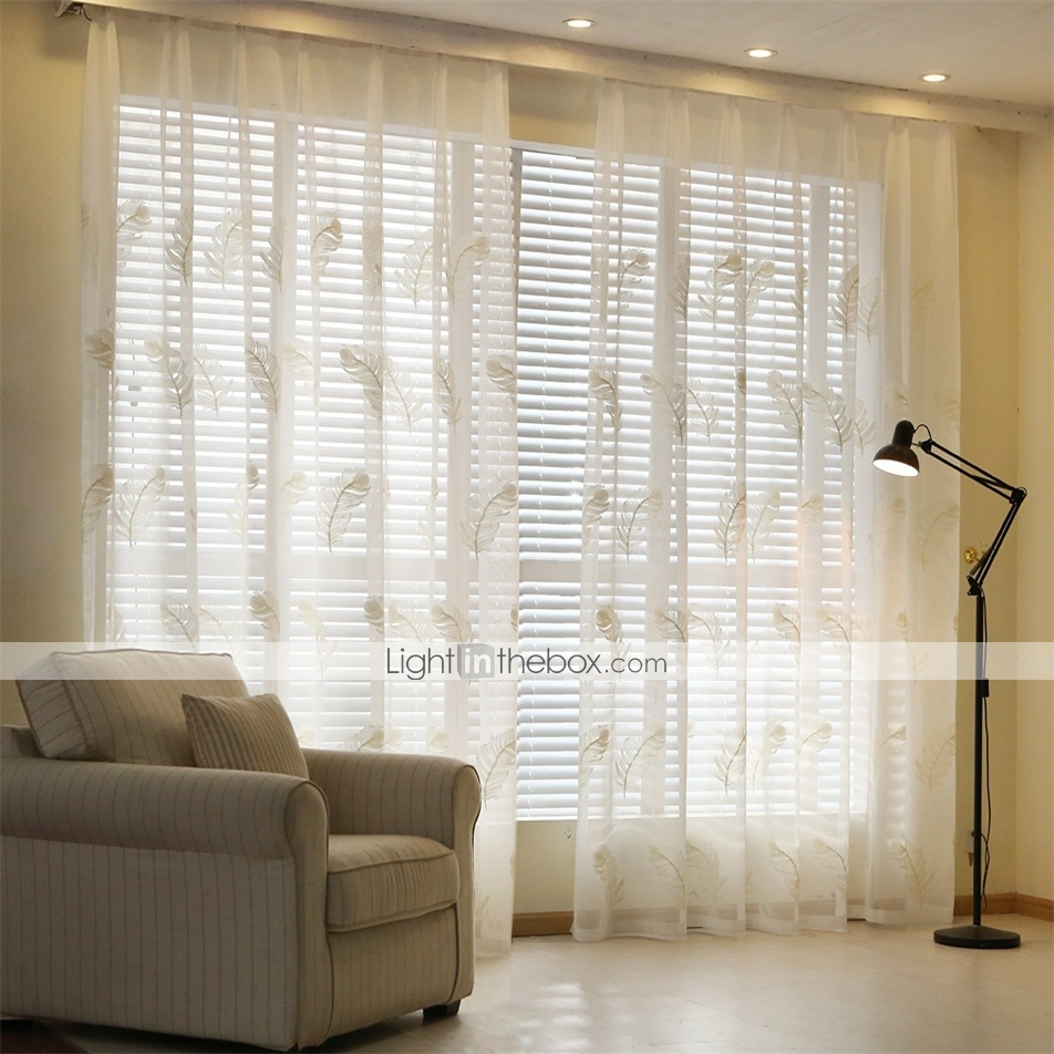 the plume two panels country vine white living room sheer curtains shades 4902401 2017. Black Bedroom Furniture Sets. Home Design Ideas