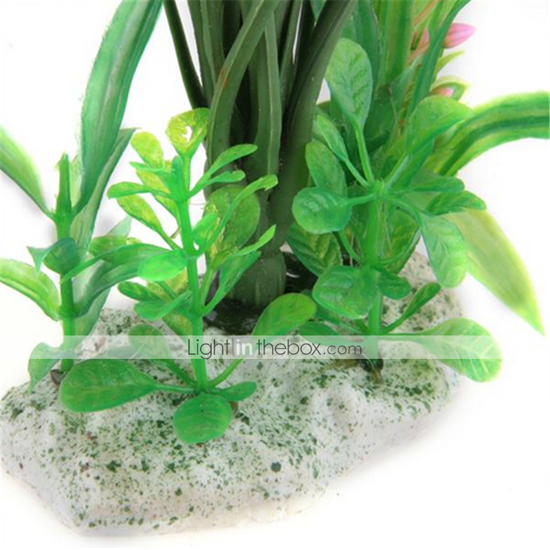Plastic artificial flower plant fish tank pond aquarium for Artificial fish pond plants