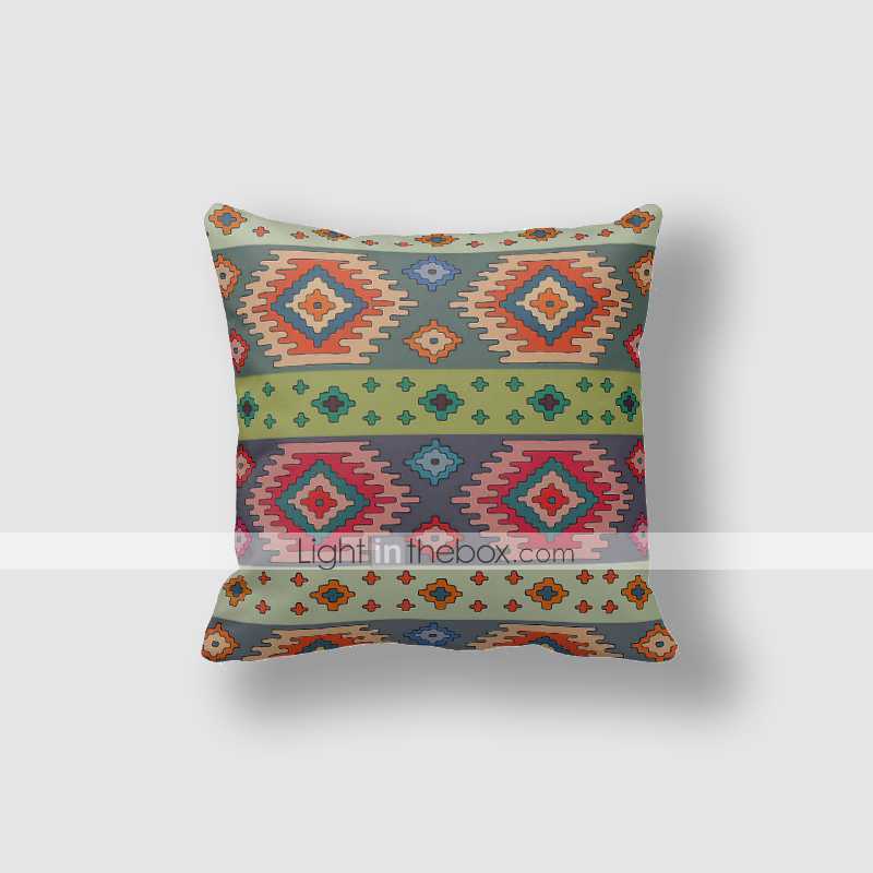 Cotton/Linen Pillow Cover , Nature Modern/Contemporary Blanket Pattern Pillow Linen Cushion ...