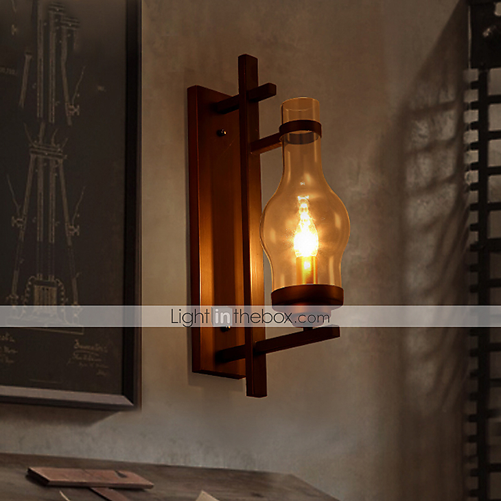 Vintage Sconce Lodge Retro Iron Wall Lamp Candle Light Industrial Lighting Fixtures Cafe Bar ...