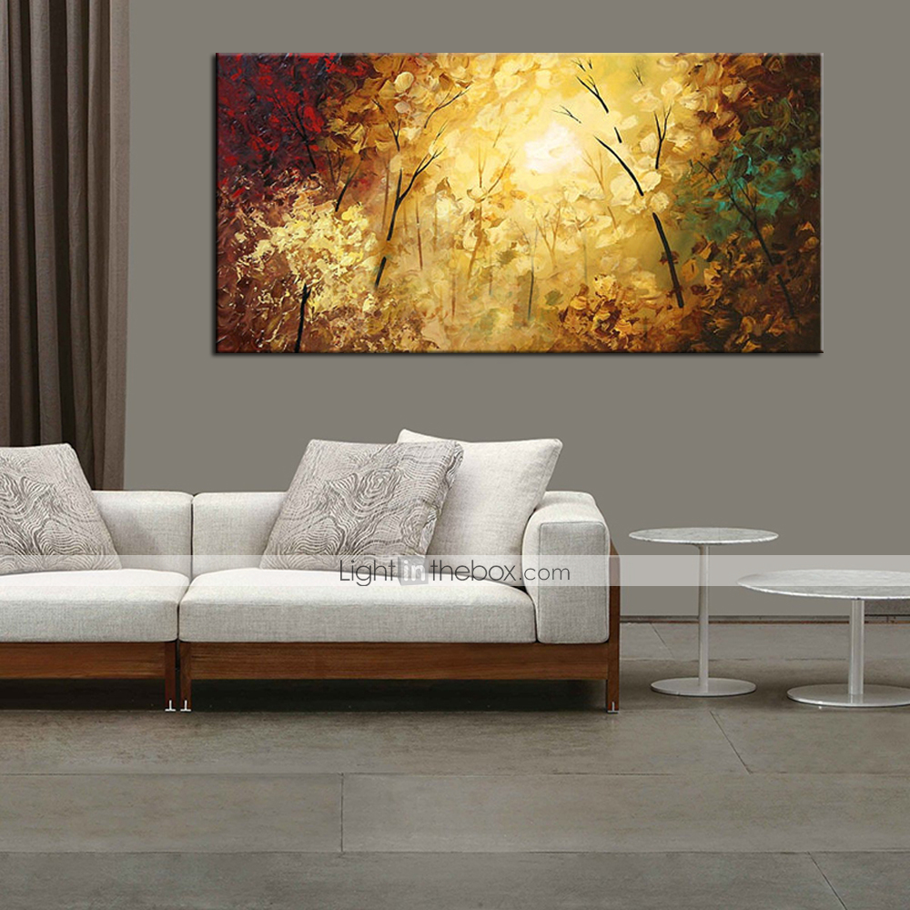 Lager handmade colorful tree landscape oil painting on - Landscape paintings for living room ...