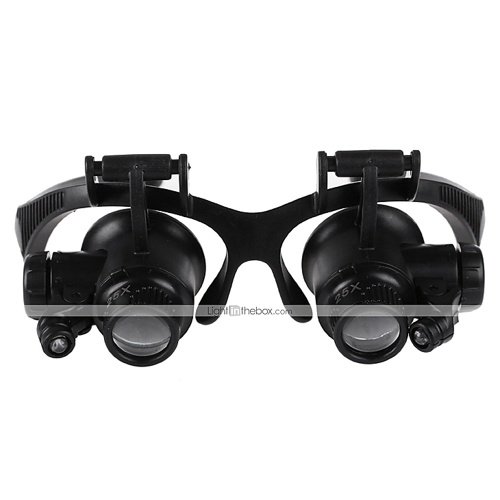 DYS Glasses Type 10x 15x 20x 25x(15mm) wit LED-Licht Watch ...