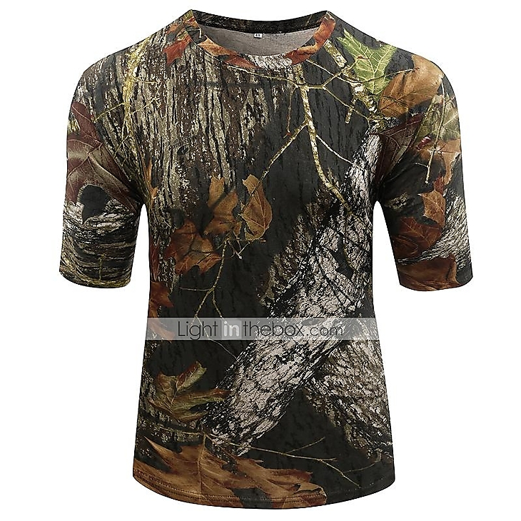 Outdoor sports cotton camouflage summer spring short for Camo fishing shirts