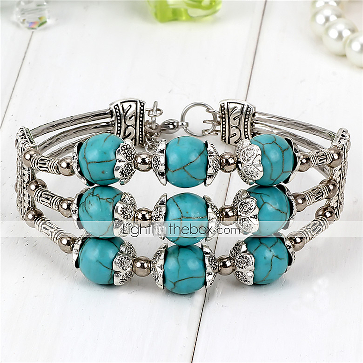 Femme bracelet original perl fait la main mode alliage - Bracelet original fait main ...