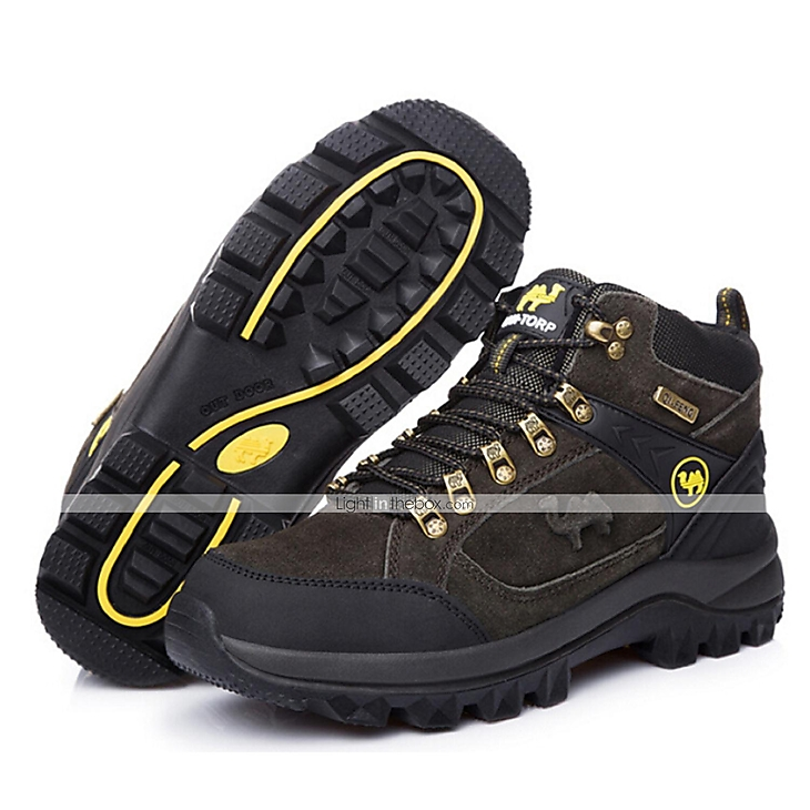 Men sports outdoor casual boots climbing hiking shoes for Waterproof fishing boots