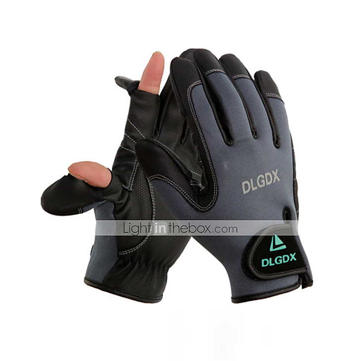 Fishing gloves waterproof auttum winter 5389275 2017 for Winter fishing gloves