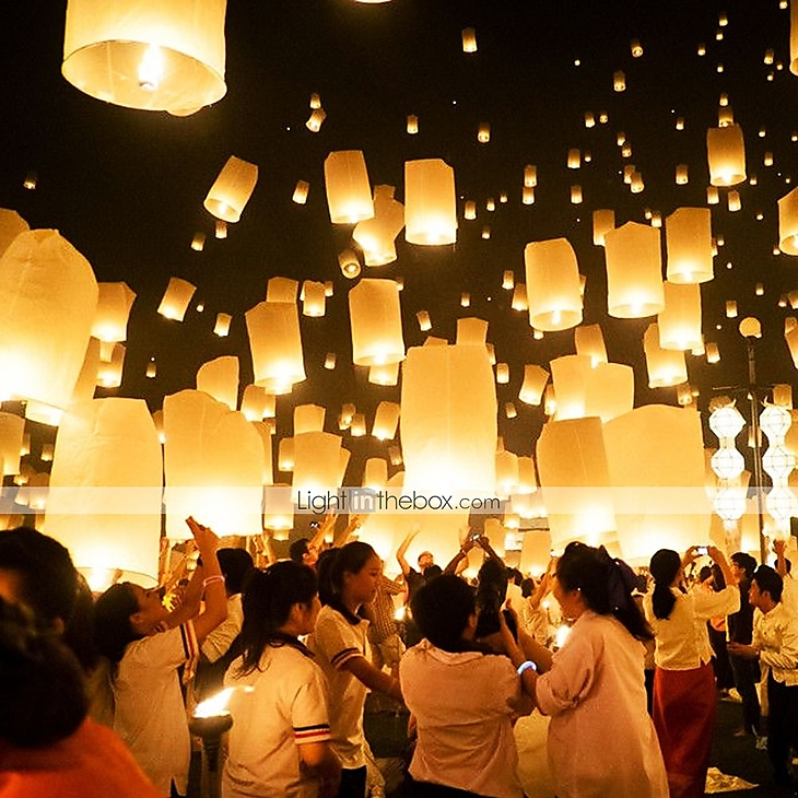 Sky Lanterns Wedding: Eco-friendly Material Wedding Decorations-10Piece/Set