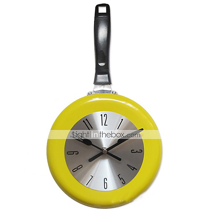 1pc high quality wall clock metal frying pan design 8 for Deco murale kitchen